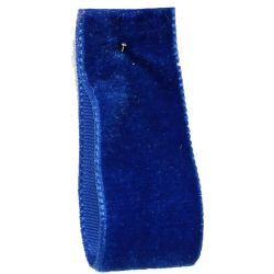 Velvet Ribbon By Berisfords Col: Royal Blue 9418 - available in 9mm - 50mm widths