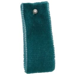 Velvet Ribbon By Berisfords Ribbons Col: Petrol 9654 - available in 9mm - 50mm widths