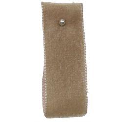 Velvet Ribbon By Berisfords Ribbons Col: Beige 9427 - available in 9mm - 50mm widths