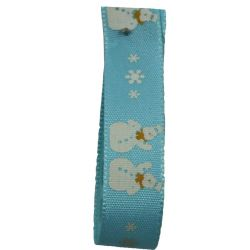 Duck Egg Snowman Ribbon 15mm x 20m Article 14300