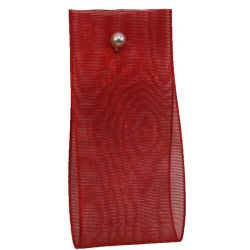 25mm x 20m Budget Sheer Ribbon in red