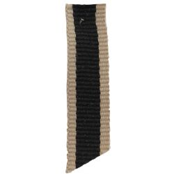 Oatmeal Stripe Ribbon Col: Black 15mm x 4m