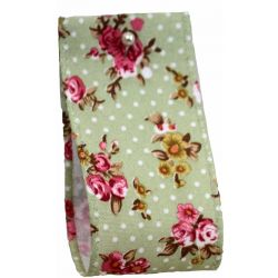 Vintage Flower & Dot Ribbon 38mm x 10m - Green