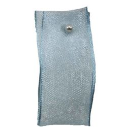 Wired Edged Sheer Ribbon 15mm x 25m Col: Sky Blue
