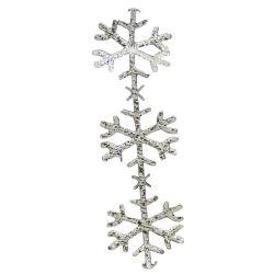 Silver Snowflake Cut Outs 25mm x 10m