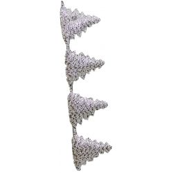 Silver Christmas Tree Cut Out Ribbon 25mm x 10m