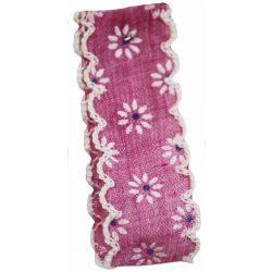 Vintage Daisy Ribbon In Deep Pink