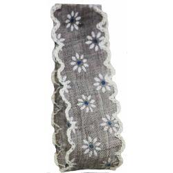 Vintage Daisy Ribbon In Grey