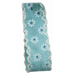 Vintage Daisy Ribbon In Turquoise