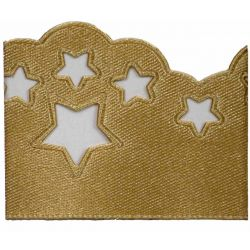 Scatter Star Satin Ribbon Col; Honey Gold