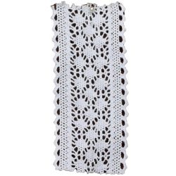 50mm Premium Lace Ribbon - Chatsworth Pattern in White & ivory