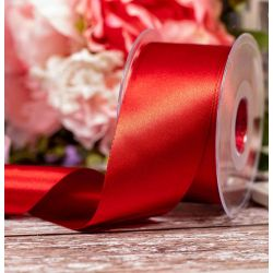 Double Satin Ribbon By Berisfords Ribbons: Dark Red (Col 250) -50mm