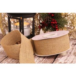 50mm Hessian Ribbon in Natural
