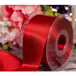 50mm x 20m Red Berisfords Double Satin Ribbon