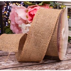 50mm hessian Ribbons In Natural