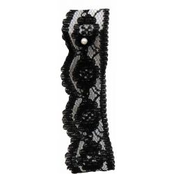 25mm Flat Black Lace By The Metre