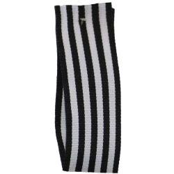 25mm x 25m Stripe Ribbon By Berisfords Ribbons Col:Black