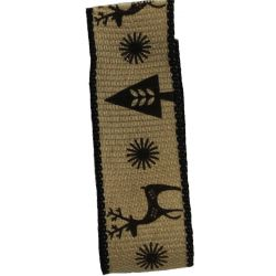Black Scandichic Deer Ribbon 25mm x 15m