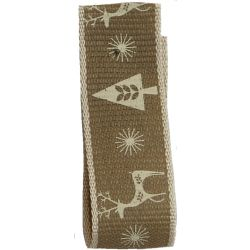 Cream Scandichic Deer Ribbon 15mm x 4m