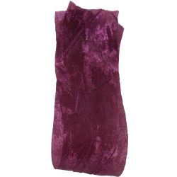 Crushed Silk Style Ribbon 38mm x 20m Col: Aubergine