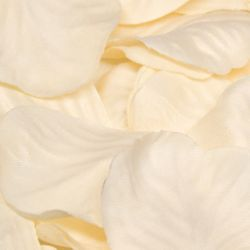 Box Of 164 Cream Fabric Rose Petals