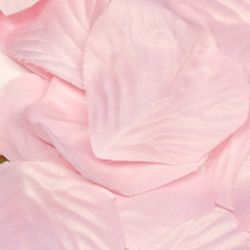 Box Of 164 Light Pink Fabric Rose Petals