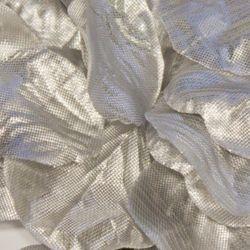 Box Of 164 Metallic Silver Fabric Rose Petals