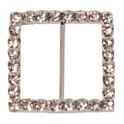 4 x Square Shaped Diamante Buckles