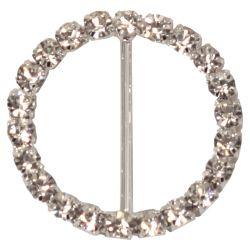 4 x Circular Shaped Diamante Buckles