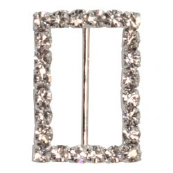4 x Rectangle Shaped Diamante Buckles