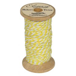 Bakers Twine Wooden Spool 2mm x 15m Yellow No.11