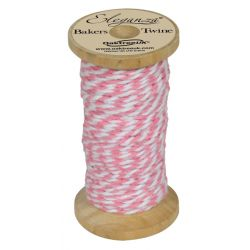 Bakers Twine Wooden Spool 2mm x 15m Lt. Pink No.21
