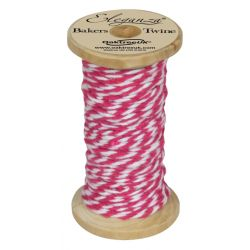 Bakers Twine Wooden Spool 2mm x 15m Fuchsia No.28