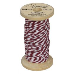 Bakers Twine Wooden Spool 2mm x 15m Burgundy No.17