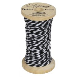Bakers Twine Wooden Spool 2mm x 15m Black No.20