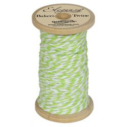 Bakers Twine Wooden Spool 2mm x 15m Lime Green No.14