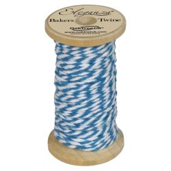 Bakers Twine Wooden Spool 2mm x 15m Turquoise No.55