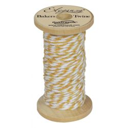 Bakers Twine Wooden Spool 2mm x 15m Gold No.35
