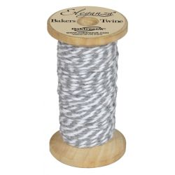 Bakers Twine Wooden Spool 2mm x 15m Silver No.24
