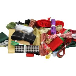 100 x 3m Ribbon Lengths - Xmas Ribbon Bundle
