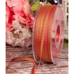 6mm Pink & Green Grosgrain Ribbon x 100m