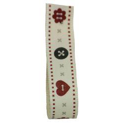 Button Ribbon 15mm x 20m