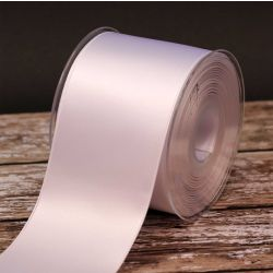 70mm x 20m White Double Satin Ribbon