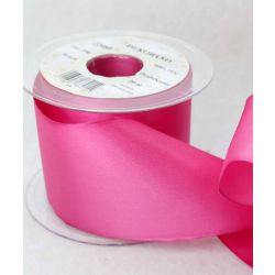 70mm x 20m Wired Taffeta Ribbon In Shocking Pink