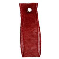 Scarlet Berry Sheer Ribbons | Organza Ribbons 10mm x 25m By Berisfords Ribbons col: 908