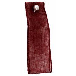Burgundy Sheer Ribbons | Organza Ribbons 70mm x 25m By Berisfords Ribbons col: 405