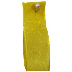 Yellow Sheer Ribbons | Organza Ribbons 15mm x 25m By Berisfords Ribbons col: 679