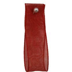 Red Sheer Ribbons | Organza Ribbons 25mm x 25m By Berisfords Ribbons col: 15
