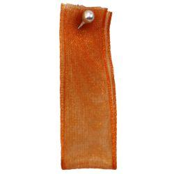Orange Sheer Ribbons | Organza Ribbons 25mm x 25m By Berisfords Ribbons col: 42