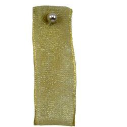 Honey Gold Sheer Ribbons | Organza Ribbons 25mm x 25m By Berisfords Ribbons col: 0678